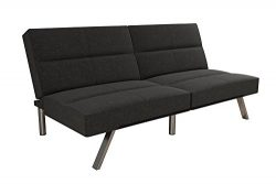 DHP Studio Convertible Futon Couch, Grey Linen