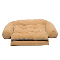 CPC Ortho Sleeper Small Comfort Couch with Removable Cushion, Caramel