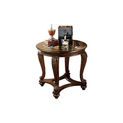 Ashley Furniture Signature Design – Norcastle End Table – Traditional Vintage Style  ...