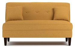 Contemporary Sofa Loveseat – This Upholstered Couch Is Made of Wood and Linen Material  ...