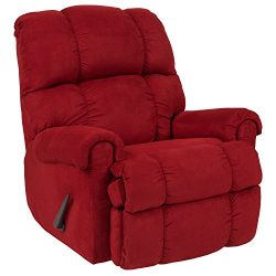 Flash Furniture Riverstone Sierra Cardinal Microfiber Rocker Recliner