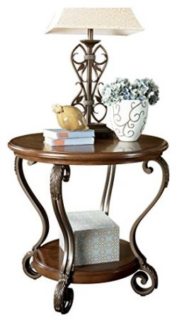 Ashley Furniture Signature Design – Nestor End Table – Traditional Vintage Style  ...