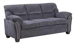Furniture World Jefferson Sofa, Gray Chenille Fabric