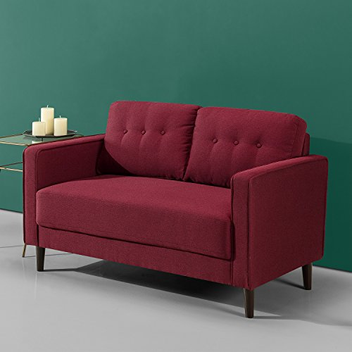 Zinus Mid Century Upholstered 52 8in Sofa Couch Loveseat