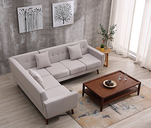 Container Furniture Direct S00128-L Barnet Sectional Sofa
