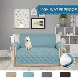 H.VERSAILTEX Full Water-repellent Plush Furniture Protector Slipcovers for Dogs Cats Stay in Pla ...