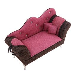 D DOLITY 1/6 Scale Dollhouse Living Room Furniture Chaise Lounge Sofa Jewelry Box Toy