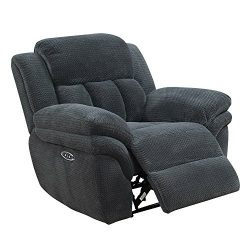 Picket House Furnishings Celeste Power Motion Recliner Transitional/Carbon/43/99