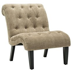 Haobo Home Modern Accent Lounge Chair with Linen upholstered Armless Accent Chair for Living Roo ...