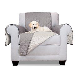 ALEKO PSC01G Pet Furniture Slipcover Spill Scratch Pet Fur Protection Cover for Lounge Chair Cou ...