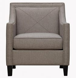TOV Furniture The Asheville Collection Elegant Modern Linen Fabric Upholstered Wood Living Room  ...