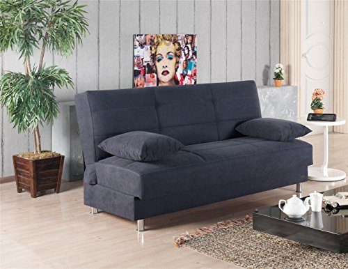 Beyan Ramsey Collection Armless Modern Convertible Sofa