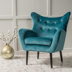 Christopher Knight Home 298850 Alyssa Arm Chair, Dark Teal