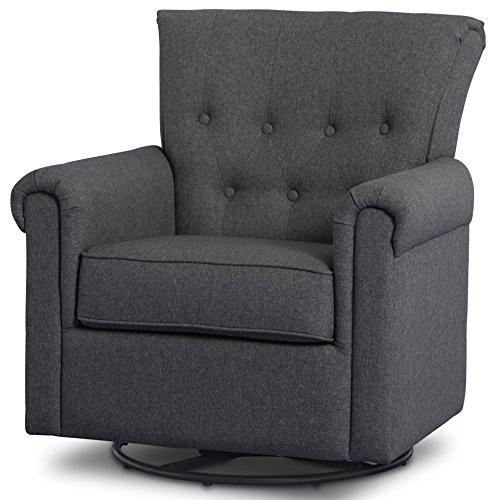 Delta Children Harper Glider Swivel Rocker Chair Charcoal