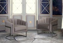 Armen Living LCPMCHBG Paloma Accent Chair, Beige