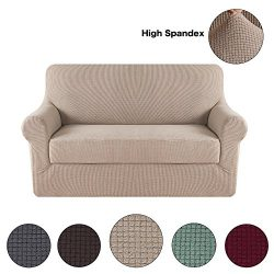 Turquoize Form Fit Stretch Stylish Furniture Sofa Slipcovers Stay In Place Featuring Lightweight ...