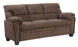 Furniture World Jefferson Sofa, Chocolate Chenille Fabric