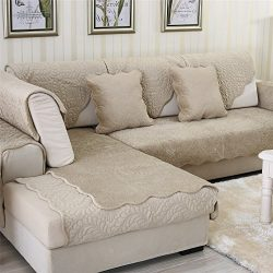 OstepDecor Soft Petris Quilted Sectional Armrest & Backrest Covers for Sofa, Loveseat | Ligh ...