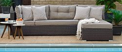 Relax A Lounger Arn-2PC-BR-Set Pacifica Outdoor Convertible Sofa
