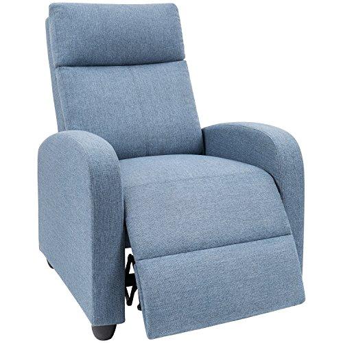 Devoko Adjustable Recliner Single Chair Fabric Modern ...