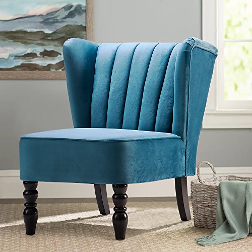 Harperu0026Bright Design Accent Chair Armless Chair Leisure Chair Living Room Furniture Chair So . : teal armless chair - Cheerinfomania.Com