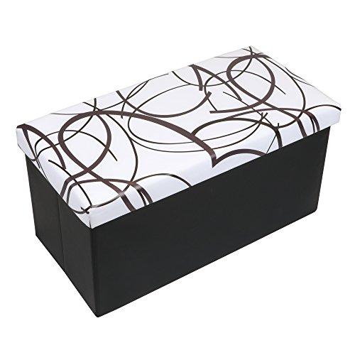 Otto & Ben 30″ Storage Ottoman – Folding Toy Box Chest with Memory Foam Seat, Fa ...