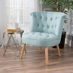 Christopher Knight Home 299777 Cicely Accent Chair, Light Blue