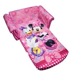 Marshmallow Furniture Children's 2 in 1 Flip Open Foam Sofa, Disney Minnie's Bow-tique, by ...