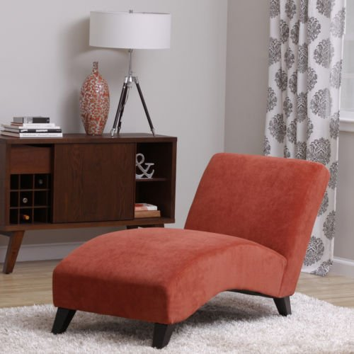 Bella Orange Paprika Chaise Lounger, Living Room Bedroom Office Patio Furniture, Enclosed Deck,  ...