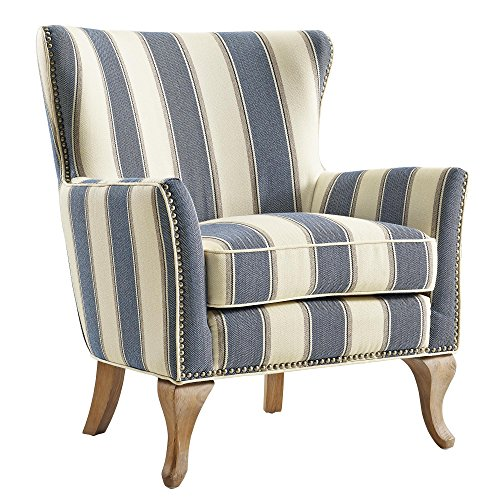 Dorel Living Reva Accent Chair Blue Gvdesigns Gvdesigns