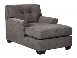Benchcraft – Alsen Contemporary Upholstered Living Room Chaise Lounger – Granite