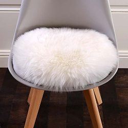 Cuteshower Round Faux Fur Sheepskin Rugs Soft Plush seat Cover Cushion Pad For Chair Living &amp ...
