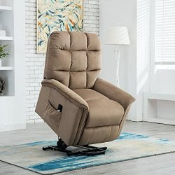 BONZY Lift Recliner Chair Power Lift Chair with Gentle Motor Velvet Cover Modern Design –  ...