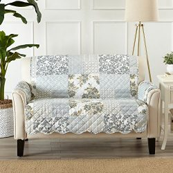 Great Bay Home Patchwork Scalloped Stain Resistant Printed Furniture Protector. By Brand. (Loves ...