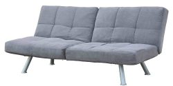 DHP Kaila Sofa Sleeper Convertible Futon Bed with Adjustable Armrests, Slanted Metal Legs and Sp ...