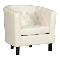 Poly and Bark Hawkins Club Chair in White