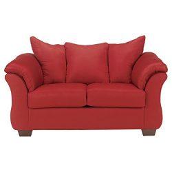 Ashley Furniture Signature Design – Darcy Love Seat – Contemporary Style Microfiber  ...