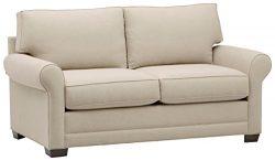Stone & Beam Kristin Round Arm Performance Fabric Sofa, 76″ W, Sand