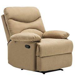 Mecor Heated Vibrating Massage Recliner Chair Microfiber Sofa Ergonomic Lounge 8 Point Massage w ...