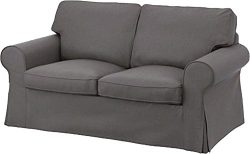 The Dense Cotton Ektorp Loveseat Cover Replacement Is Custom Made For Ikea Ektorp Loveseat Sofa  ...