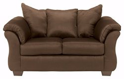 Ashley Furniture Signature Design – Darcy Love Seat – Contemporary Style Microfiber  ...