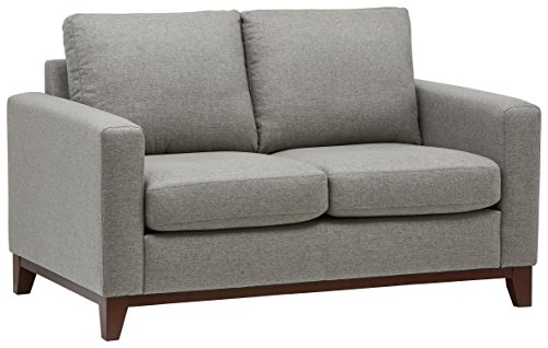 Rivet North End Exposed Wood Modern Loveseat 59 Quot W Grey