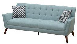 Furniture World Mid Century Sofa, Turquoise