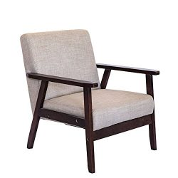 Living Express Mid Century Modern Accent Armchair,Indoor Muted Fabric Accent Chair,Living Room C ...