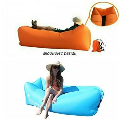 WOO 2.0 Inflatable Lounger- Premium Air Mattress Sofa Bed- For Indoors & Outdoors-Camping,Hi ...
