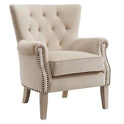 Dorel Living Accent Chair, Beige