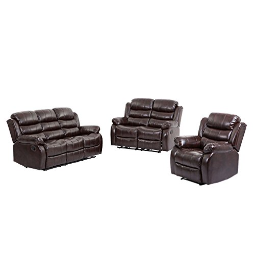 Bestmassage Living Room Set Loveseat Chaise Reclining