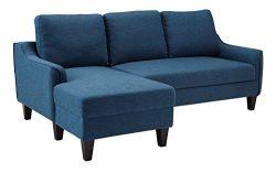 Ashley Furniture Signature Design – Jarreau Contemporary Upholstered Sofa Chaise Sleeper & ...