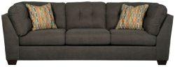 Benchcraft – Delta City Contemporary Living Room Sofa – Steel Gray
