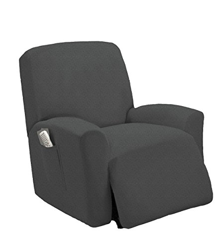 MarCielo One Piece Stretch Recliner Slipcover Stretch Fit Furniture Chair Recliner Lazy Boy Cove ...